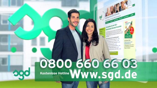 DRTV-Spot für das SGD Fernstudium zur Kataloganforderung