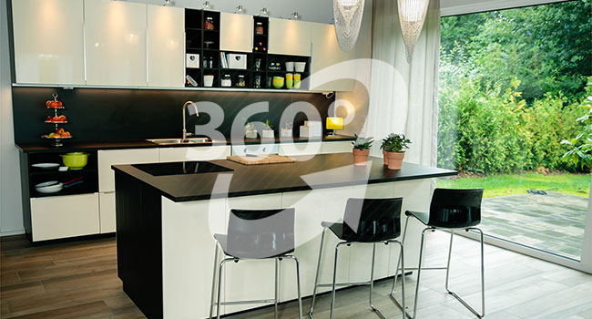 Studioküche für Fotos und Videos / Filme