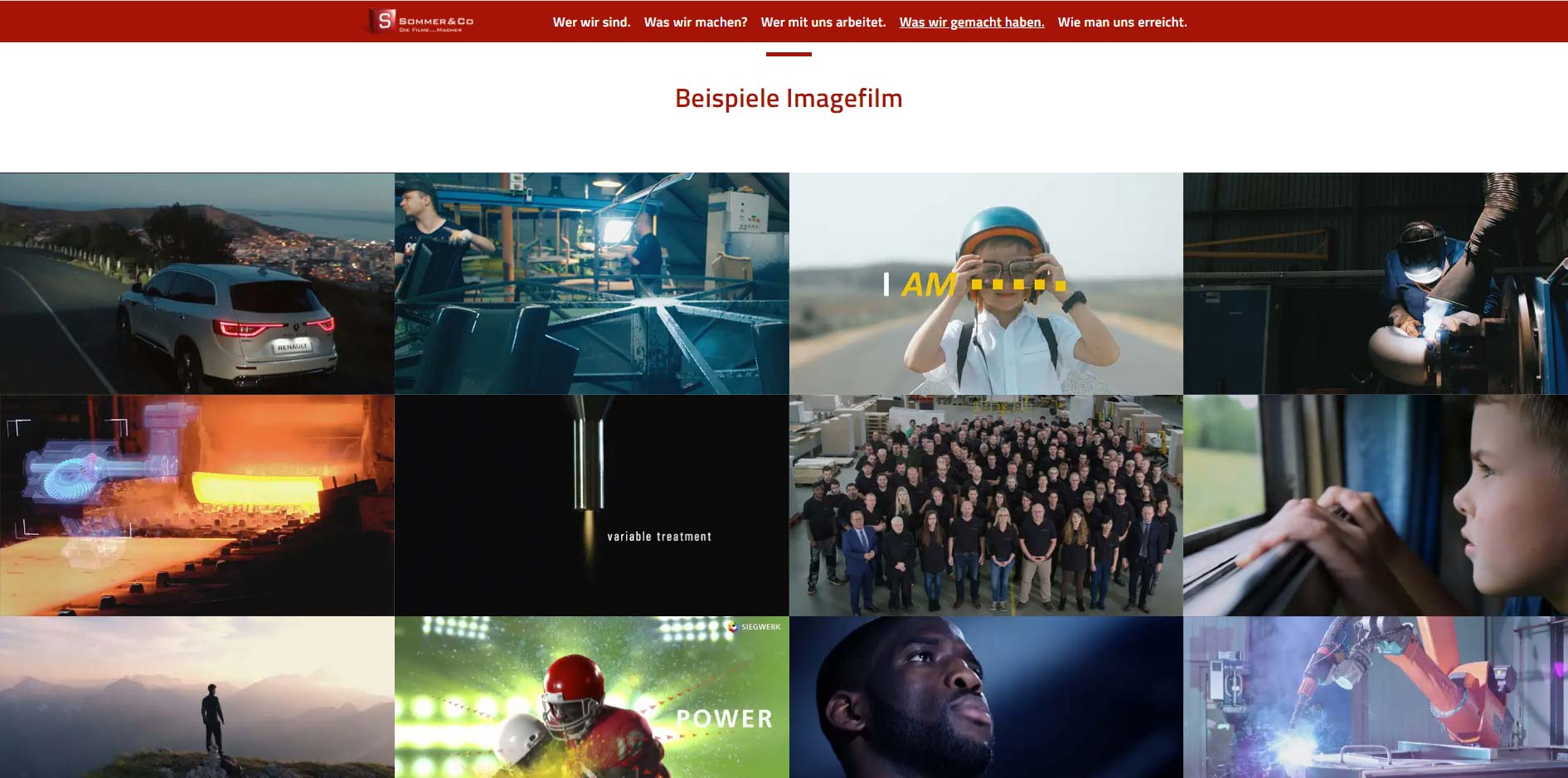 Imagefilm-Beispiele