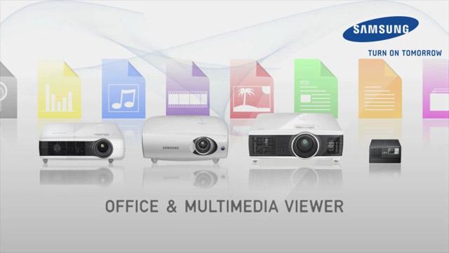 Produktvideo für die Samsung Office- & Multimedia-Viewer Beamer
