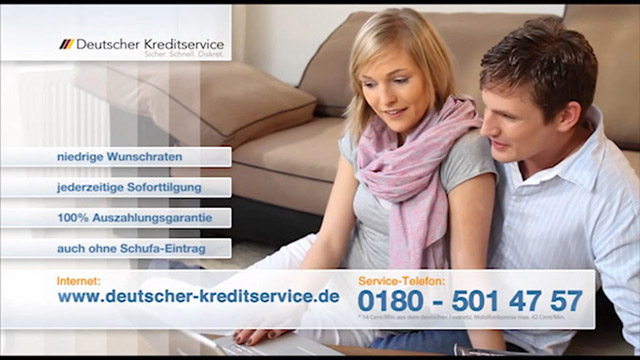 DRTV-Spot für einen Konsumentenkredit - Deutscher Kreditservice